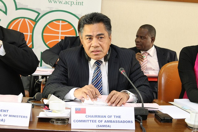 His Excellency Fatumanava III Dr.Paolelei Luteru, Chairman of the Committee of Ambassadors, 12 September 2013