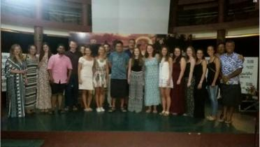 Ambassador of Samoa (middle) with the medical students from Europe